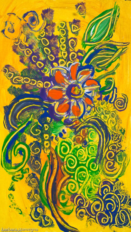 Astrazione Fiore Arancione Bbs Art