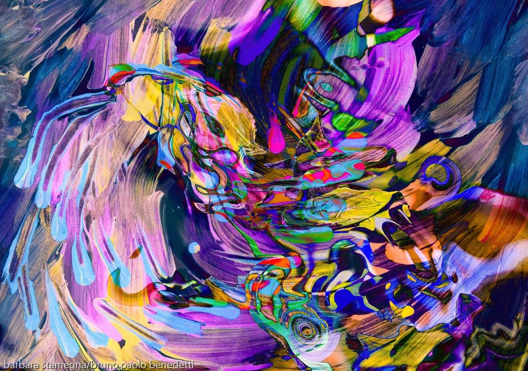 turbinio di flusso di colori ondeggiante,immagine dinamica di arte astratta