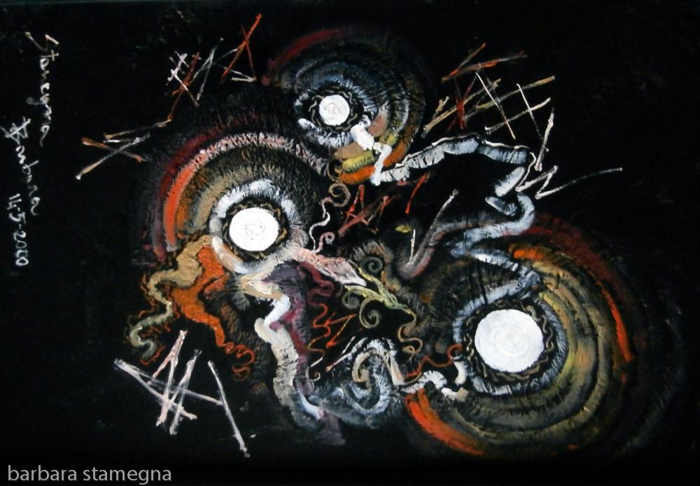 Albori Dipinto Astratto Bbs Art
