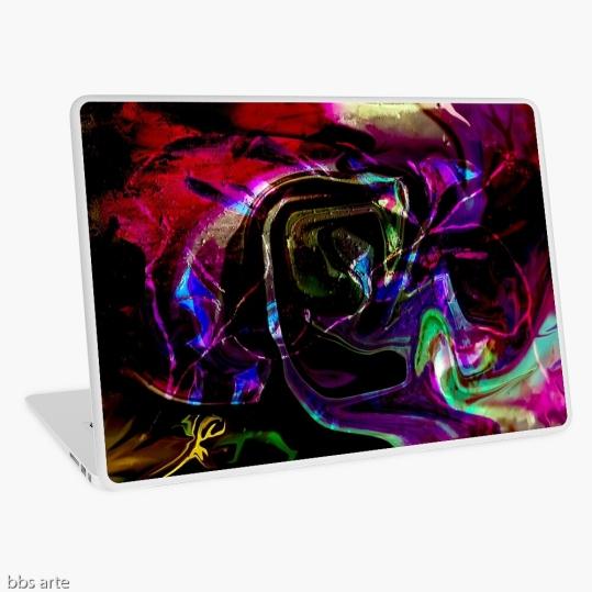 tema astratto con forme di colore arcobaleno su custodia per laptop