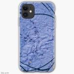 tema astrato con trama grezza in colore indaco su custodia telefono cellulare