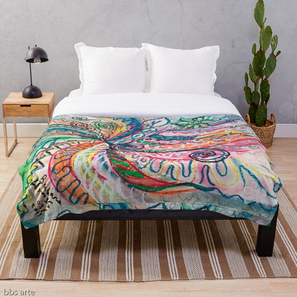 trapunta da letto con design astratto creazione di natura concentrica