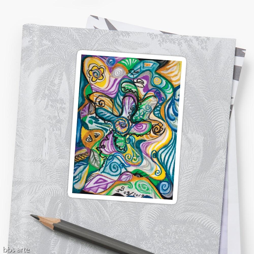 adesivo astratto colorato