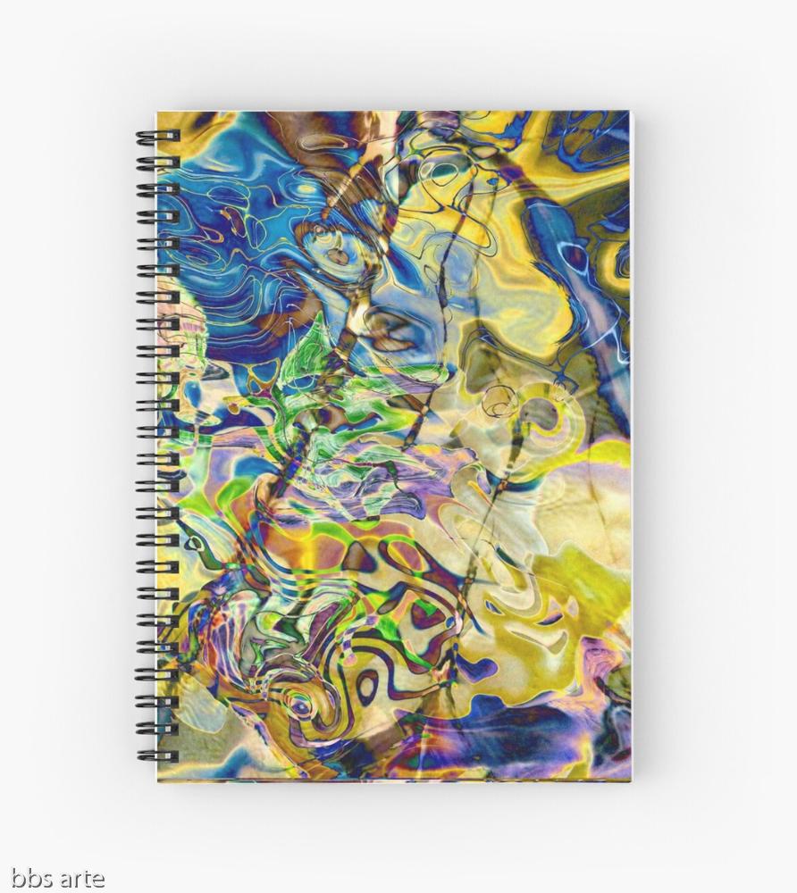 agenda spirale design blu giallo
